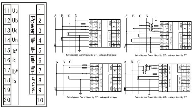 jys-7s4 - multifunctional electric power meter series - digital panel meter