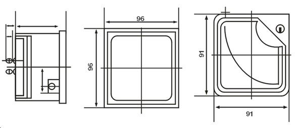 ce认证 96*96 指针式电流表/交流 直流 电压表 400v